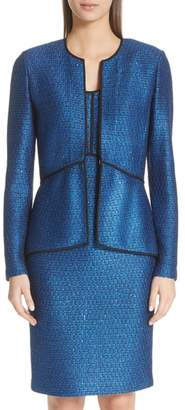 St. John Luster Sequin Knit Jacket