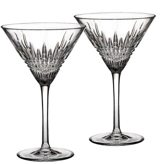 Waterford Lismore Diamond Martini Glasses - Set of 2
