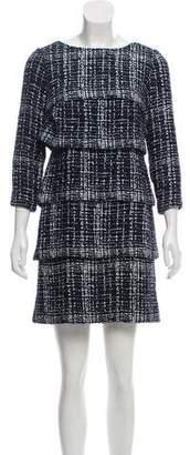 Chanel Tiered Fantasy Tweed Dress