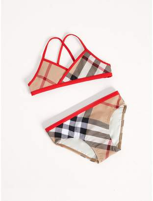 Burberry Check Bikini with Contrast Trim