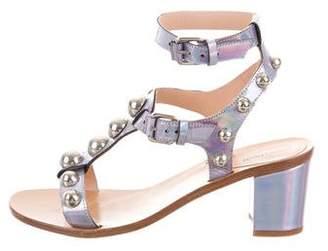 Markus Lupfer Studded Block-Heel Sandals