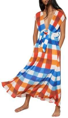Mara Hoffman Katinka Check Cover-Up Maxi Dress