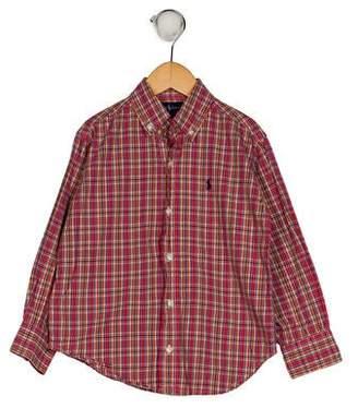 Ralph Lauren Boys' Plaid Button-Up Shirt