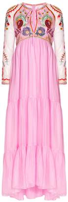Temperley London Chimera Embroidered Tie Dress