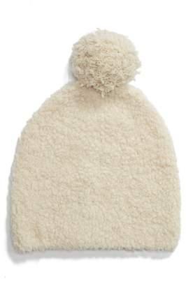 Vince Teddy Wool & Cashmere Blend Pom Beanie