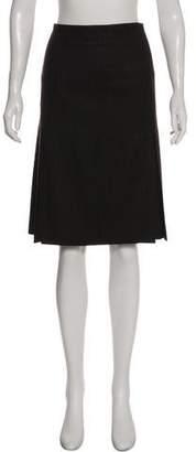 Akris Striped Wool Skirt
