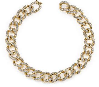 Anita Ko 18k Rose Gold Small Diamond Chain Link Bracelet