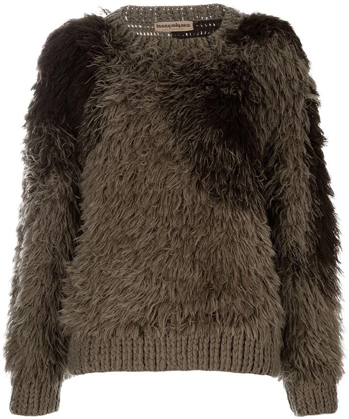 Issey Miyake Vintage faux fur jumper