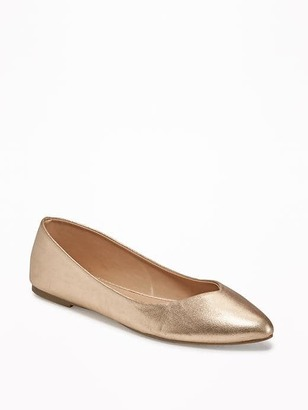 Metallic Pointy Flats for Women $22.94 thestylecure.com