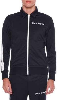 Palm Angels Men's Spread-Collar Track Jacket