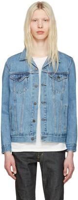 Levi's Blue Denim Trucker Jacket $100 thestylecure.com