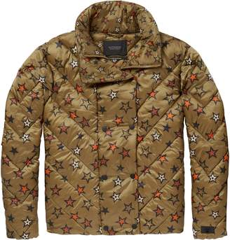 Scotch & Soda Star Quilted Crop Jacket