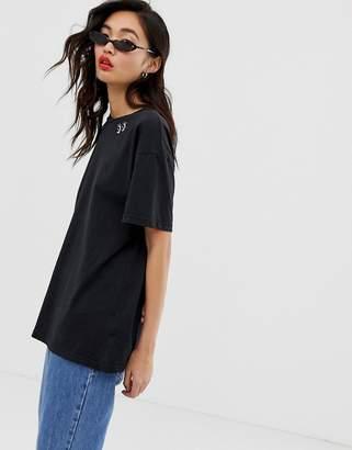 Iden Denim organic cotton oversized t-shirt with embroidered eye logo
