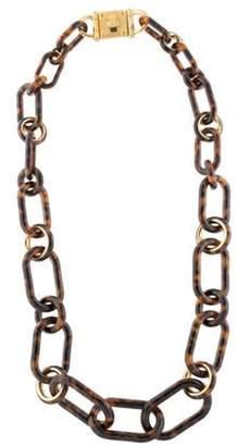 Michael Kors Resin Link Necklace Gold Michael Kors Resin Link Necklace