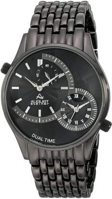 August Steiner Men's AS8141BK Analog Display Swiss Quartz Black Watch