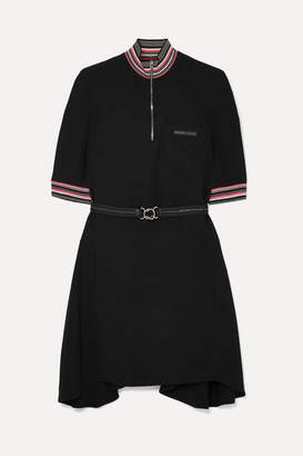 Prada Striped Twill Mini Dress - Black