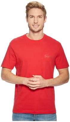 Lacoste Short Sleeve 'Graphics' Jersey Bonded Croc Regular Men's Short Sleeve Pullover