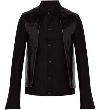 Rick Owens Contrast Panel Cotton Jacket - Mens - Black