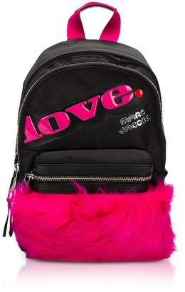 Marc Jacobs Trek Pack Medium Fur Love Backpack