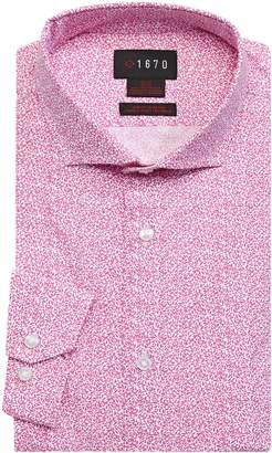 1670 Floral-Print Slim-Fit Dress Shirt