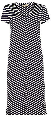 Phase Eight Chantelle Chevron Beach Dress, Navy/Ivory