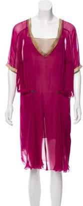 Philosophy di Alberta Ferretti Sheer Mini Dress