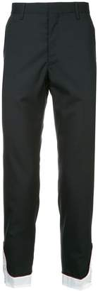 John Undercover contrast cuff trousers