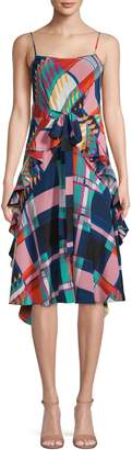 Diane von Furstenberg Printed Silk A-Line Dress