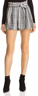 Alice + Olivia Laurine Plaid Shorts