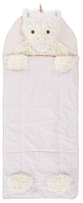 Pottery Barn Kids Shaggy Head Unicorn Sleeping Bag, Sleeping Bag, Blush