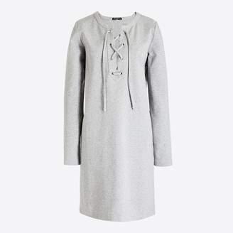 J.Crew Factory Long-sleeve knit lace-up dress
