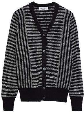 Sonia Rykiel Striped Silk And Cotton-blend Cardigan