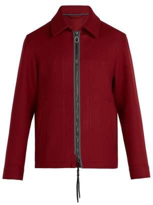 Lanvin Zip Fastening Wool Jacket - Mens - Red