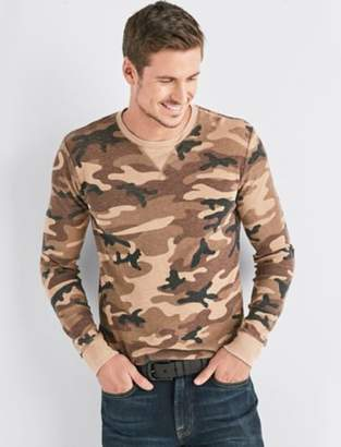 Lucky Brand VENICE BURNOUT CAMO THERMAL