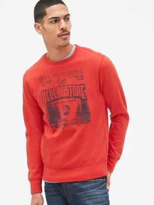 Gap Graphic Crewneck Pullover Sweatshirt