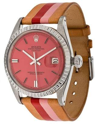 Rolex La Californienne Fraise Peony Oyster Perpetual Datejust Stainless Steel Watch 36mm