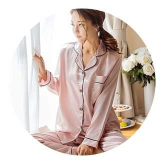 pursuit-of-self-CA-Sleepwear Dress 2018 Autumn Women Ladies Sexy Satin edce24d4f