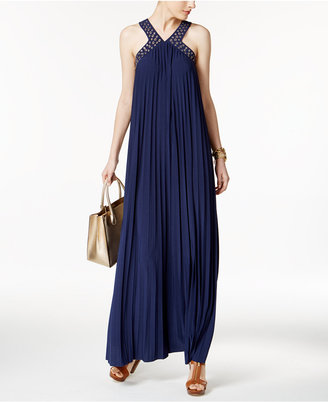 MICHAEL Michael Kors Embellished Pleated Maxi Dress $175 thestylecure.com