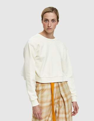 3.1 Phillip Lim Cropped Tie Back Sweatshirt