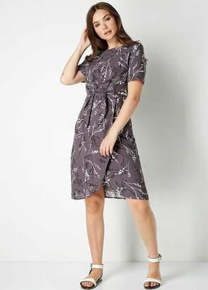 Roman Originals Floral Print Tie Front Dress