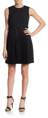 RED ValentinoCady Pleated A-Line Dress