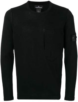 Stone Island Shadow Project chest pocket jumper