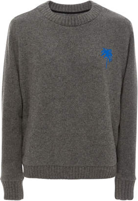 The Elder Statesman M'O Exclusive Embroidered Cashmere Sweater