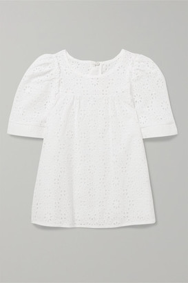Chloé Kids - Ages 2 - 5 Broderie Anglaise Cotton Top