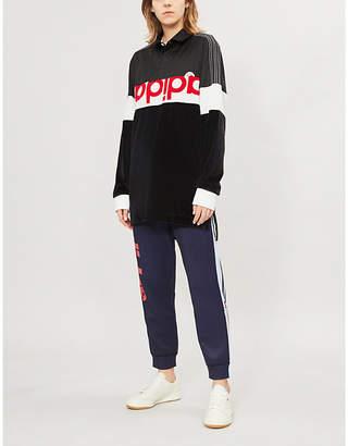 Alexander Wang Adidas X Disjoin logo-print velvet sweatshirt 110f4d1c64f8b