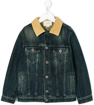 Gucci Kids logo embroidered denim jacket