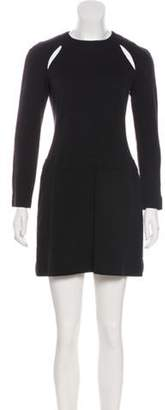 Sonia Rykiel Long Sleeve Wool Dress Black Long Sleeve Wool Dress