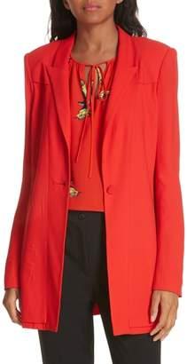 Diane von Furstenberg Long Stretch Crepe Blazer