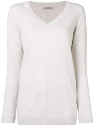 Hemisphere cashmere V-neck sweater