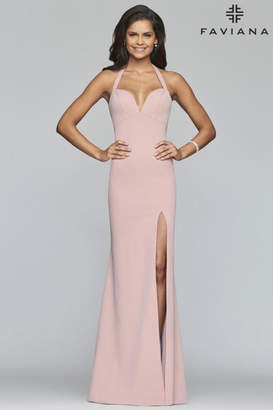 Faviana Pink Halter Gown